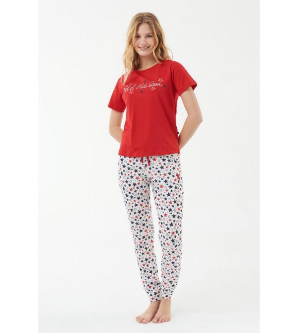 U.S. Polo Assn. 16538  Kadın Pijama Takımı