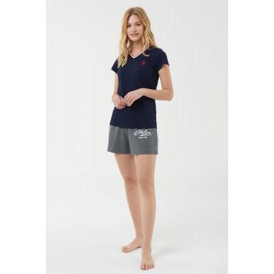 US Polo Assn 16502 Kadın T-Shirt Şort Takım