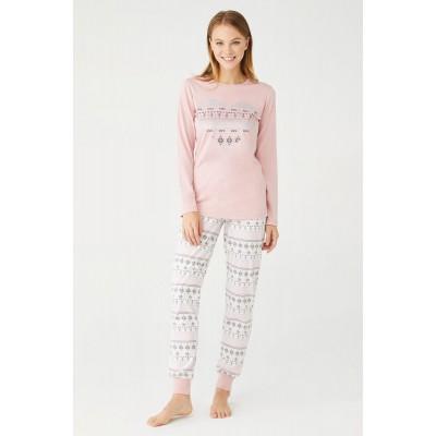 U.S. Polo Assn. Kadın Yuvarlak Yaka Pijama Takımı 16402