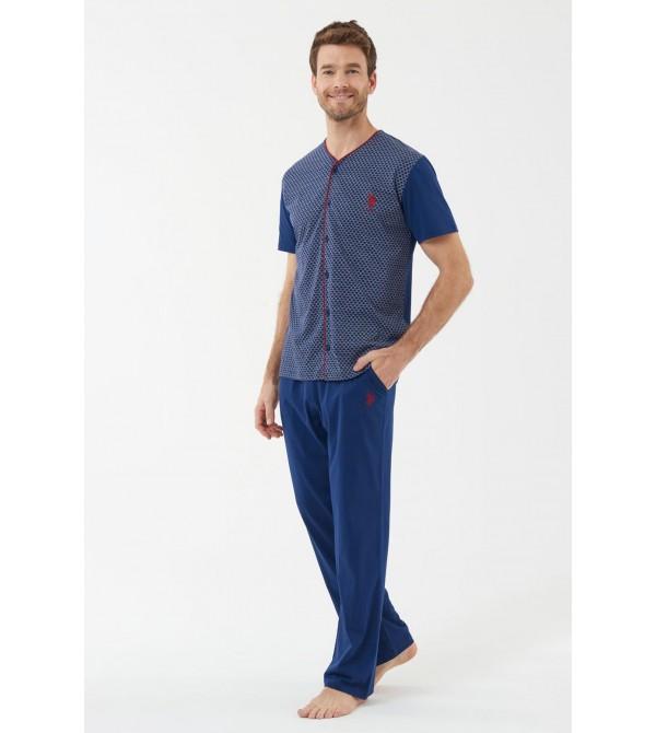 U.S. Polo Assn. 18441  Erkek Boydan Patlı Pijama Takım