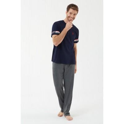 U.S. Polo Assn. 18446  Erkek Patlı Pijama Takım