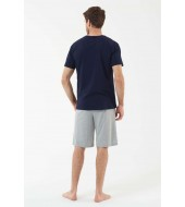 U.S. Polo Assn. 18427 Erkek T-Shirt Şort Takım