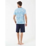 U.S. Polo Assn. 18426 Erkek T-Shirt Şort Takım