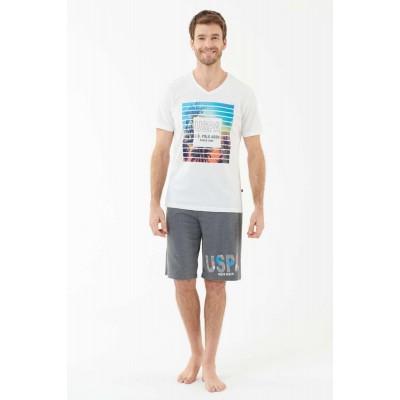 U.S. Polo Assn. 18430 Erkek T-Shirt Şort Takım