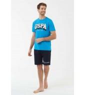 U.S. Polo Assn. 18423 Erkek T-Shirt Şort Takım