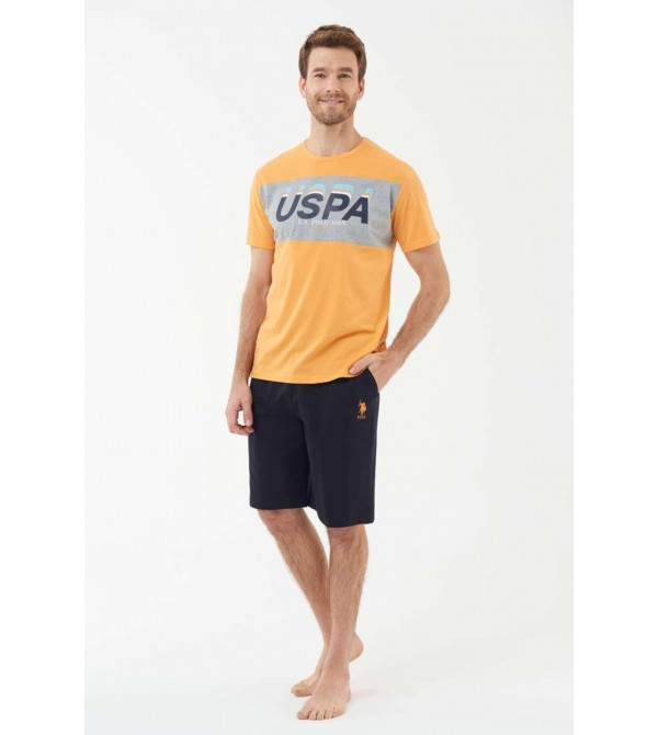 U.S. Polo Assn. 18403 Erkek T-Shirt Şort Takım