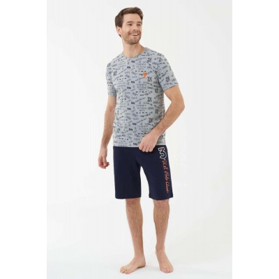 US Polo Assn 18417 Erkek T-Shirt Şort Takım