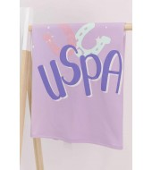 U.S. Polo Assn Lila Kız Bebek Battaniye Usb573-V2