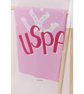 U.S. Polo Assn Toz Pembe Kız Bebek Battaniye Usb573-V1